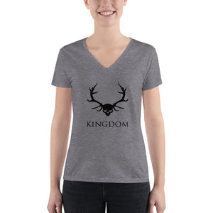 KA Kingdom Women's Fashion Deep V-neck Tee