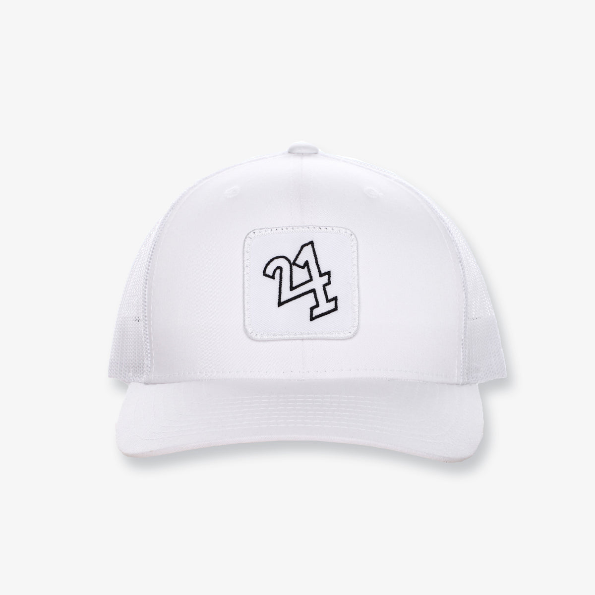 Logo Mesh Hat - White