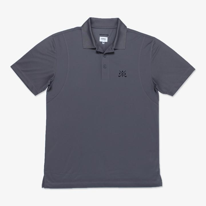 F421 Golf Polo Charcoal