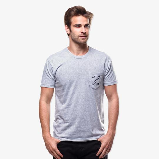 Home Pocket Tee Grey