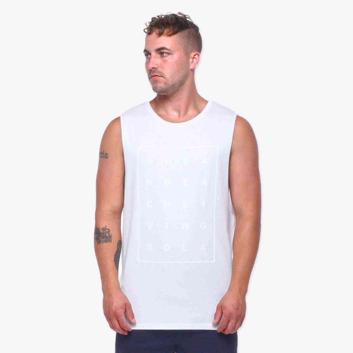 Livin Muscle Tank - White