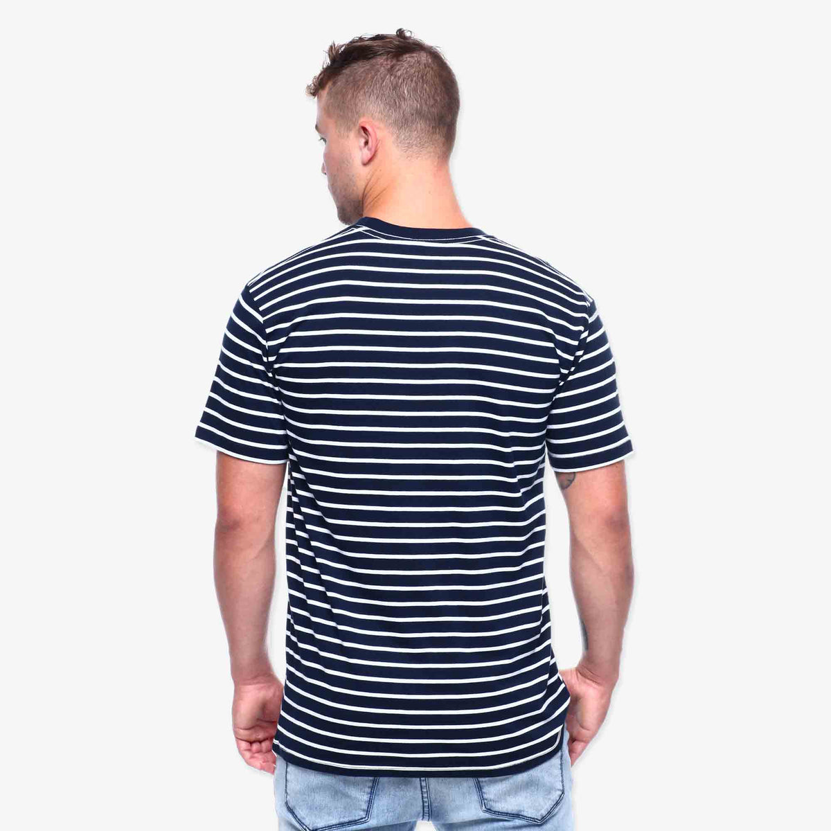 Mariner Stripe Tee - Navy & White