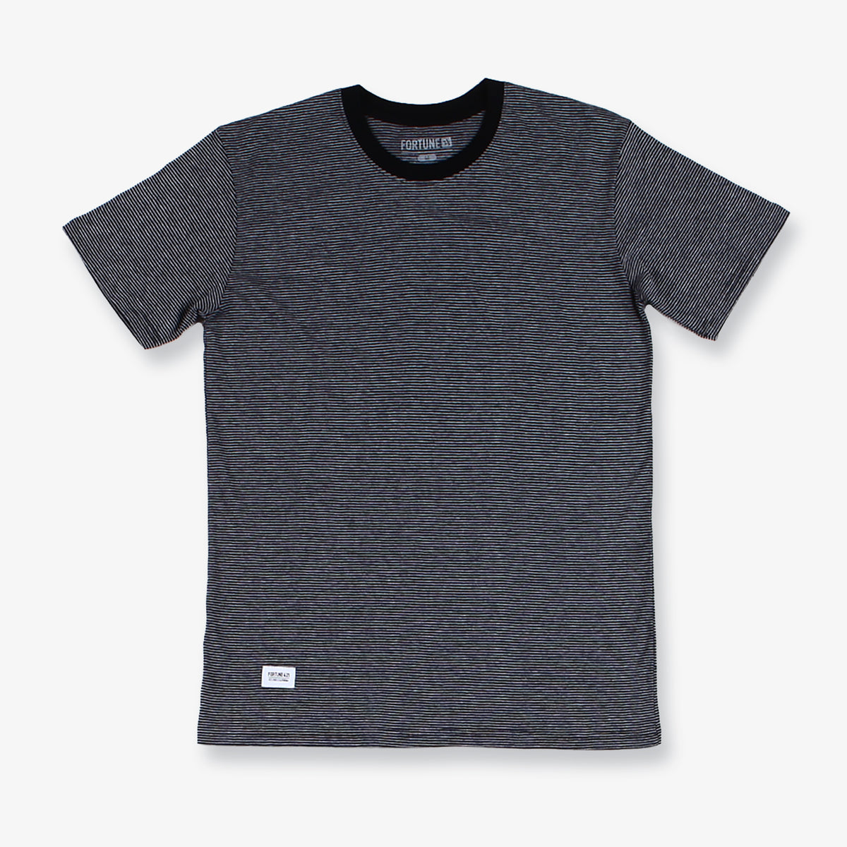 Mission Striped Tee - Black & Grey
