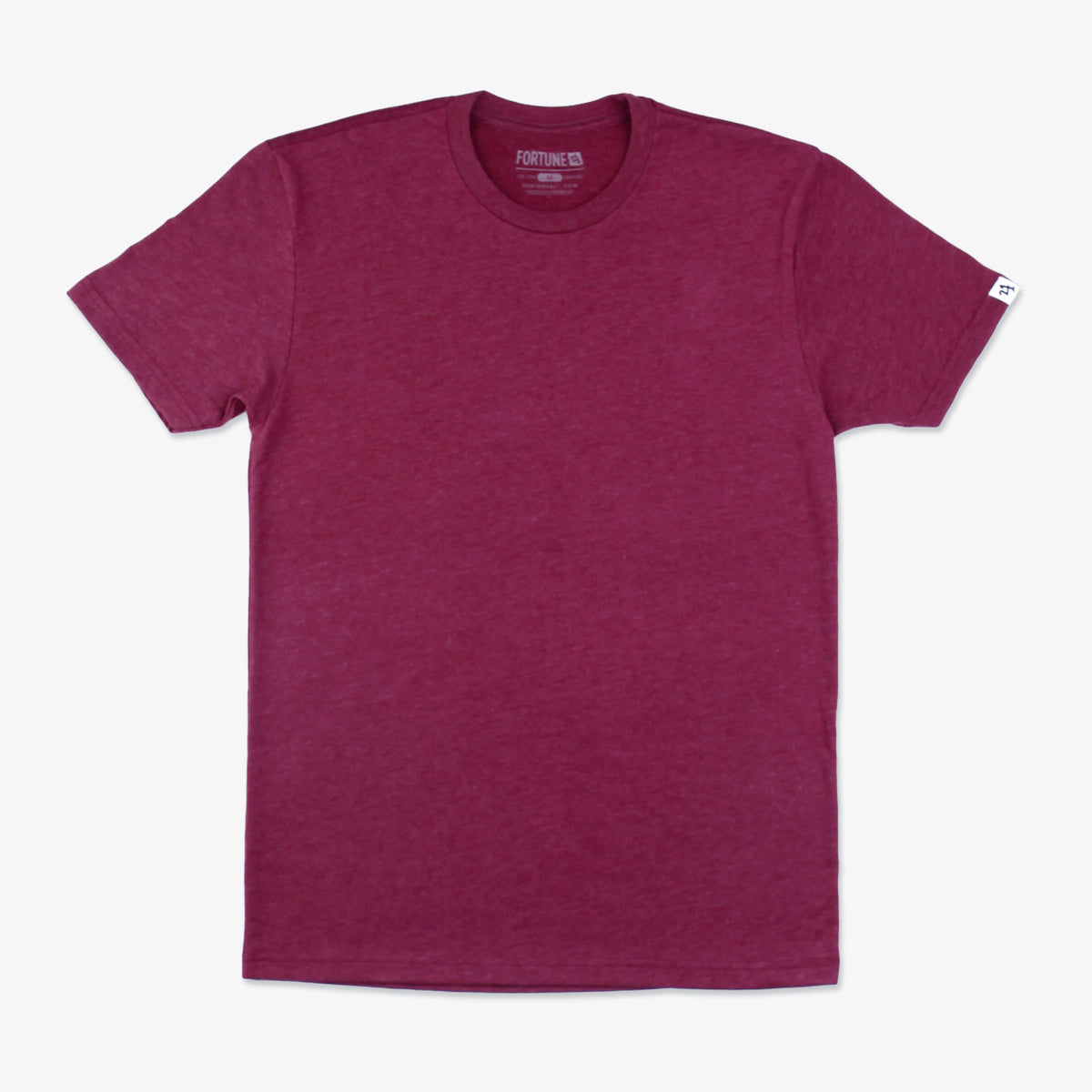 No Bad Days Sueded Crew Tee - Sangria
