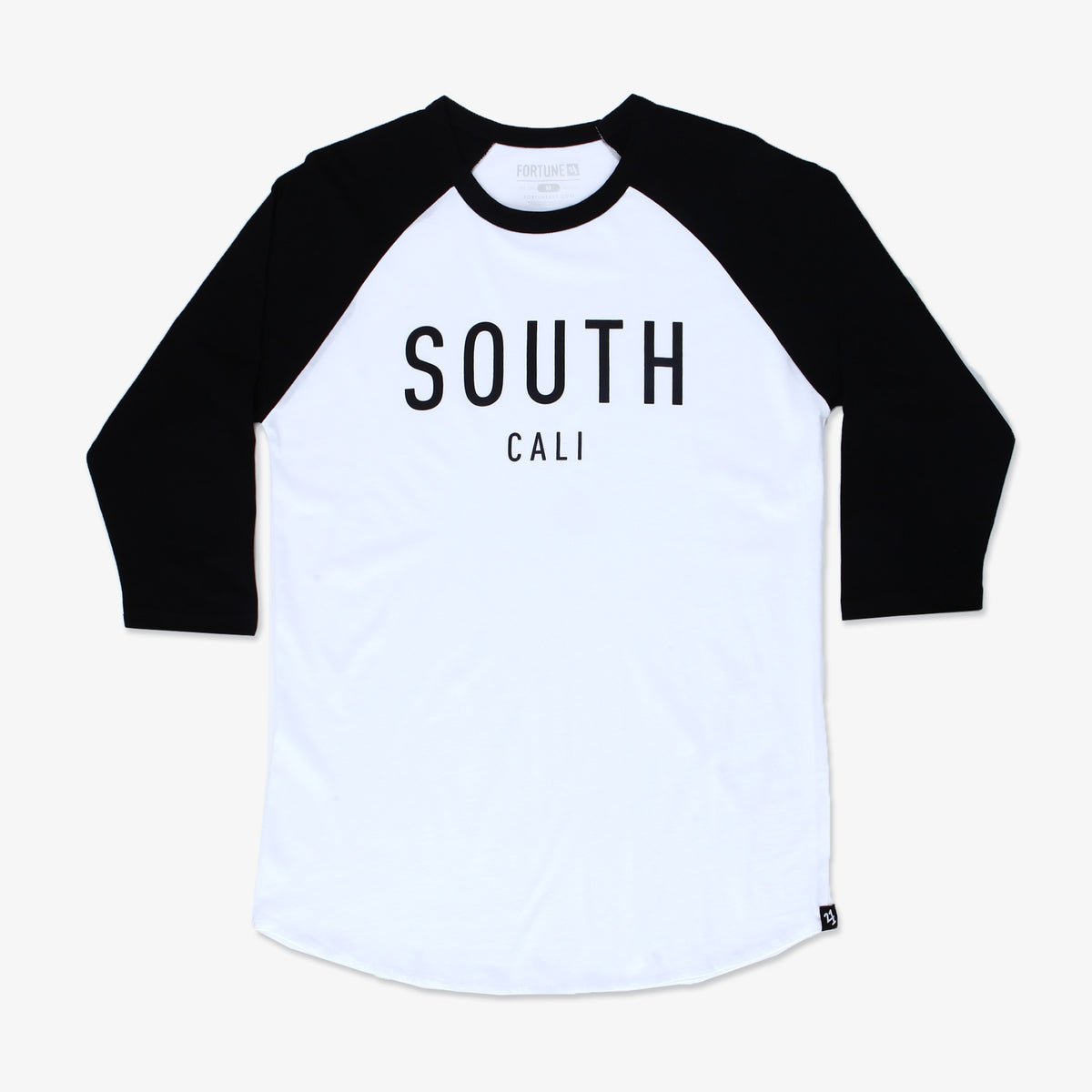 South Cali 3/4 Raglan Tee - White