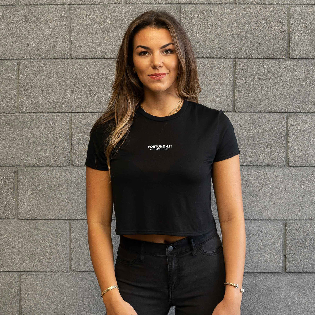 Malca Cropped Tee - Black