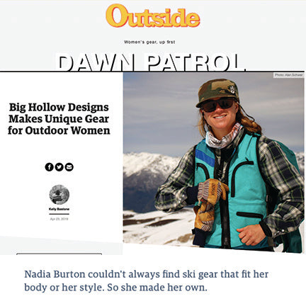 Outside Magazine highlights Big Hollow Designs