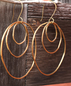 Bronze Triple Hoop