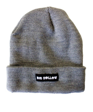 grey knit beanie big hollow designs whatvest