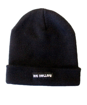 black big hollow beanie knit hat