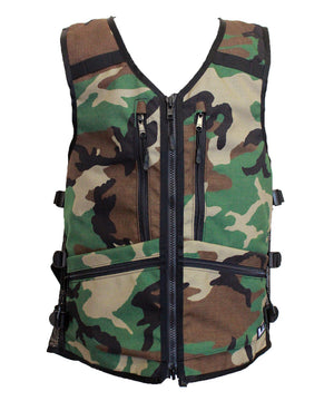 camouflage camo ski snowboard backcountry utility vest, backcountry skiing snowboarding, winter 2021 best winter apparel, snowboard utility vest, whatvest, blue ski vest, snowboard vest, backcountry utility vest, avalanche vest, snowmobile, sled neck vest, beacon, shovel probe, safety vest, big mountain freeskiing