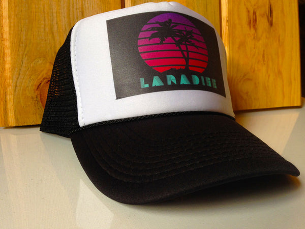 Laradise Hat, Laradise trucker hat, Laramie hat, Wyoming trucker hat, university of Wyoming hat