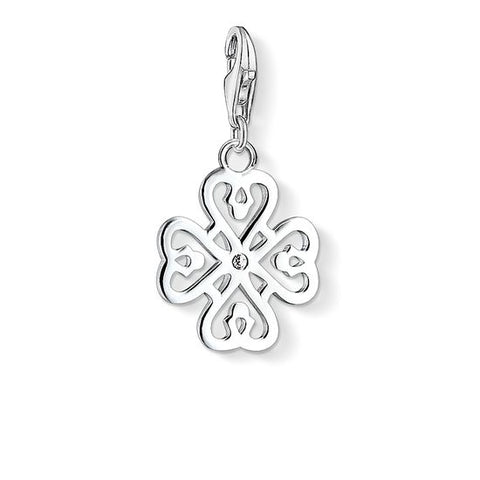 Thomas Sabo Sterling Silver Four Leaf Clover Charm