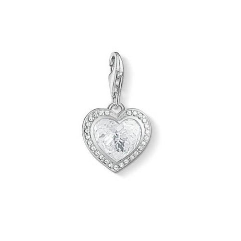 Thomas Sabo White Heart Charm