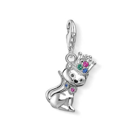 Thomas Sabo Cat With Crown Charm