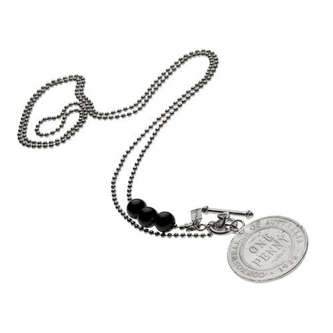 Sterling Silver Canix Necklace with One Penny