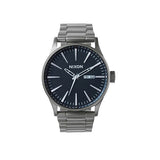 Nixon Sentry SS Watch - Gun Metal/Blue Crystal