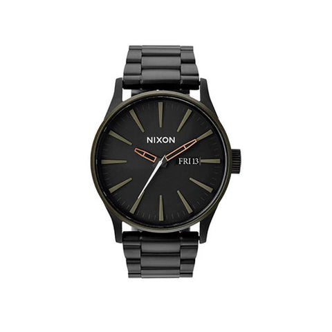 Nixon Sentry SS Watch - Matte Black/Industrial Green