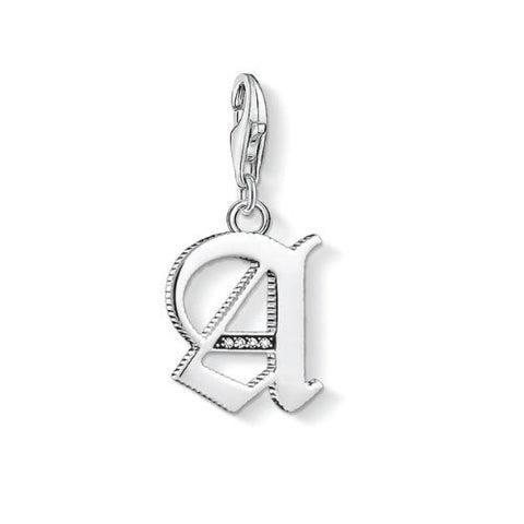 Thomas Sabo Sterling Silver Letter A Charm