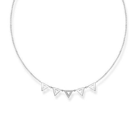 Thomas Sabo Sterling Silver Diamond Triangle Necklace