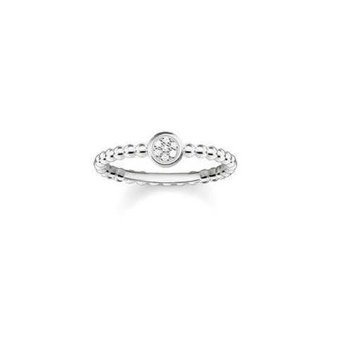 Thomas Sabo Sterling Silver Diamond Sparkling Circles Ring