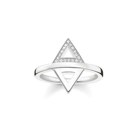 Thomas Sabo Sterling Silver Diamond Triangles Ring