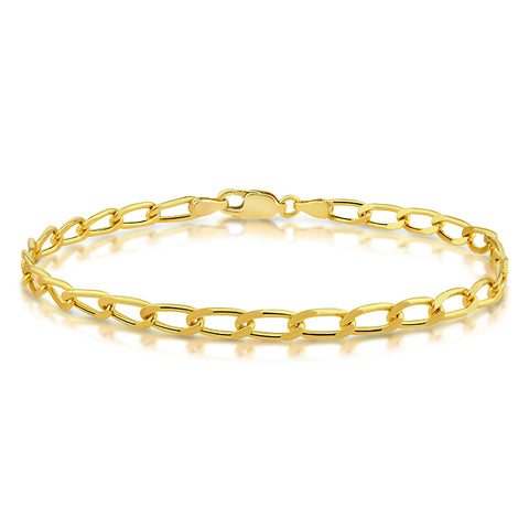 9ct Solid Yellow Gold Open Curb Bracelet