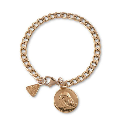 Von Treskow Gold Curb Bracelet with St Mary