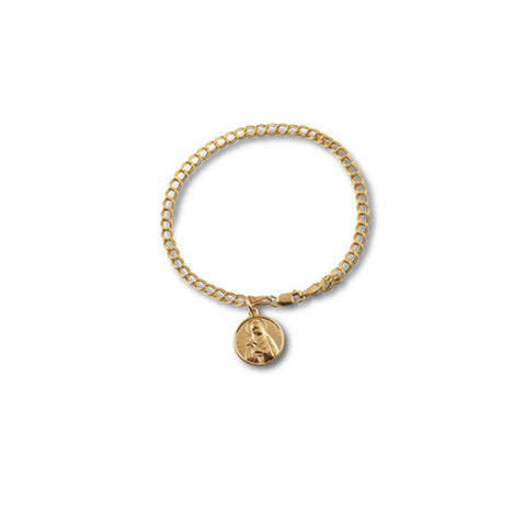 Von Treskow Yellow Gold Plated St Mary Bracelet