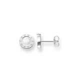 Thomas Sabo Sterling Silver White Mother of Pearl Signature Stud Earrings