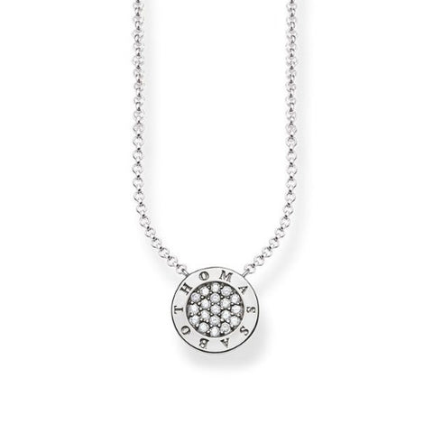 Thomas Sabo Sterling Silver Classic Pave Necklace - White
