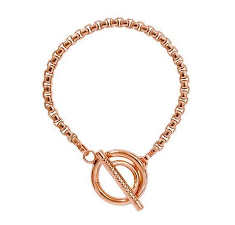 Nikki Lissoni Rose Gold Plated Belcher Bracelet