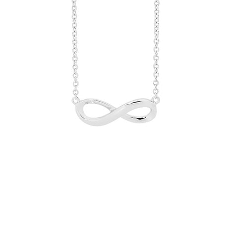 Ellani Sterling Silver Infinity Necklace