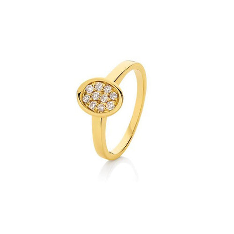 Dreamtime 9ct Yellow Gold Diamond Ring
