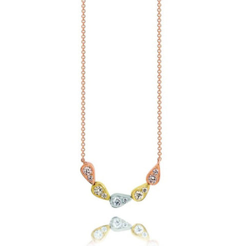 Dreamtime 9ct Three Tone Multi Pod Necklace
