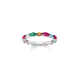 Thomas Sabo Sterling Silver Colourful Stones Ring