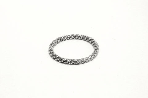 Sterling Silver Fine Twisted Ring