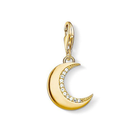 Thomas Sabo Sterling Silver Gold Plated Protective Moon Charm
