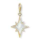Thomas Sabo Sterling Silver Gold Plated Star Mother Of Pearl Charm
