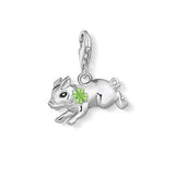 Thomas Sabo Sterling Silver Little Pig With Cloverleaf Charm