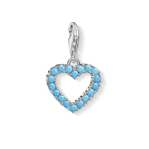 Thomas Sabo Sterling Silver Turquoise Heart Charm