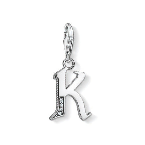 Thomas Sabo Sterling Silver Letter K Charm