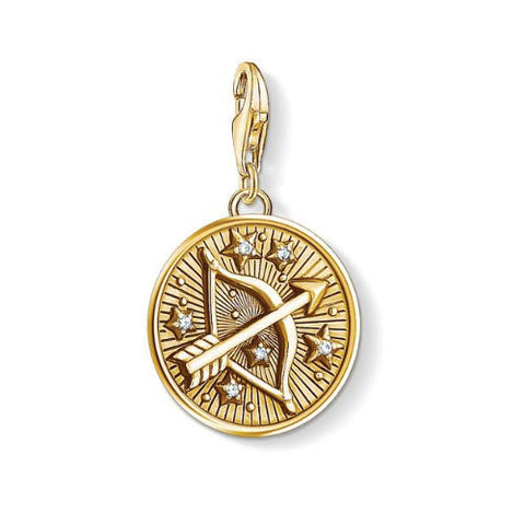 Thomas Sabo Sterling Silver Gold Plated Zodiac Sign Sagittarius