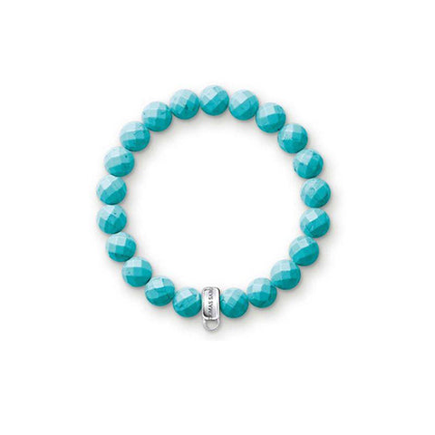 Thomas Sabo Charm Club Turquoise Stretch Bracelet