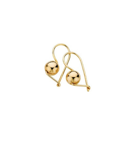 9ct Yellow Gold Euroball Earrings 8mm