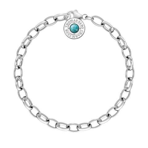 Thomas Sabo Charm Club Bracelet with Turquoise