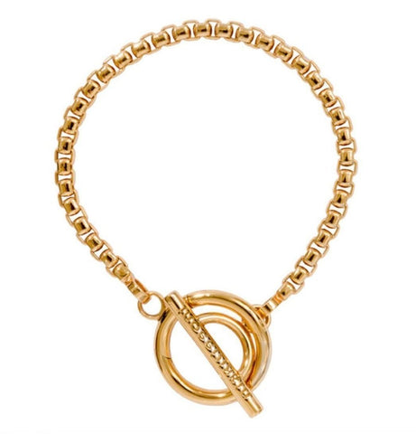 Nikki Lissoni Yellow Gold Plated Belcher Bracelet