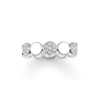 Thomas Sabo Sterling Silver Sparkling Circles Ring