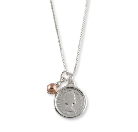 Von Treskow Threepence Necklace With Rose Ball
