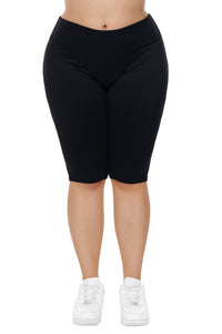 Black Knee Length Plus Size Sports Pants - Its Trendy Frenzy